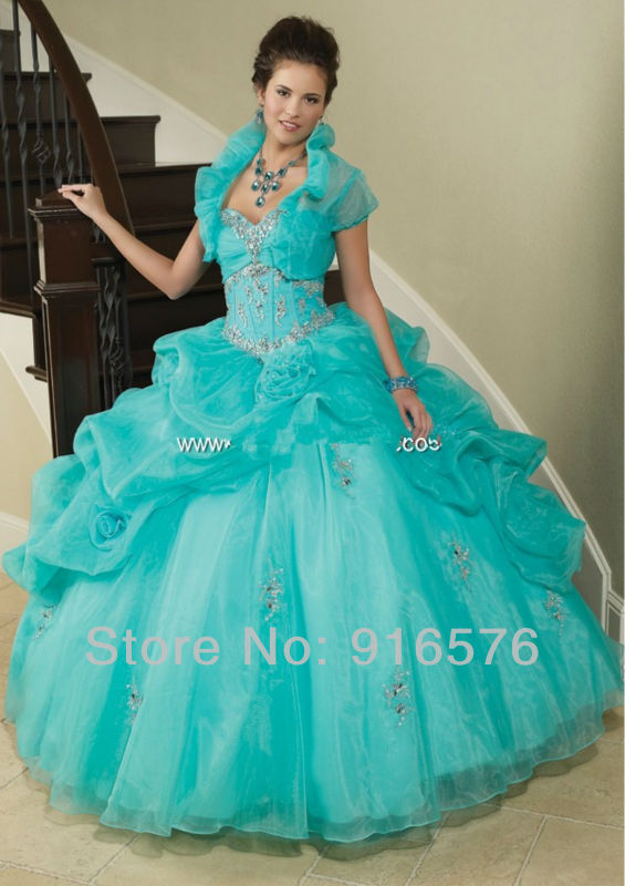 Yellow quinceanera dresses pegeant gowns ball gown blue sweet 16 dress