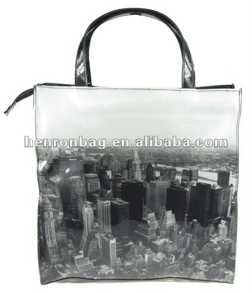 photo printing Vinyl PVC tote bag