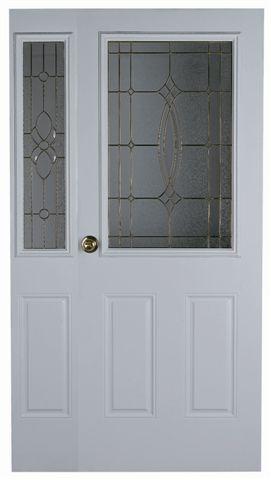 Decorative metal glass door half lite glass patio door for 15 lite door insert