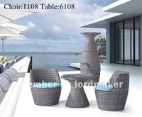 Садовый набор мебели 2012 hot sale outdoor garden cafe bristo set 1108-6108