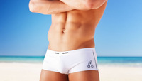 Одежда и Аксессуары 1 Pcs Men's Swimwear Beach Pants Sexy Sports Boxers Swimming Trunks Swim Shorts