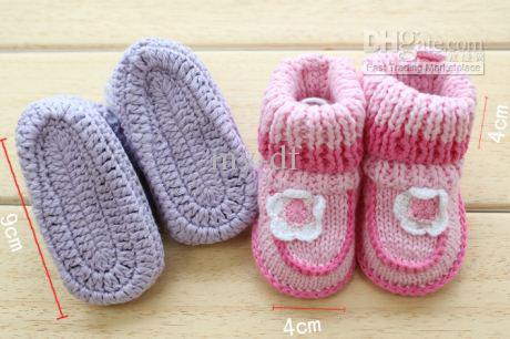 Cómo hacer zapatitos de lana para bebés - Imagui