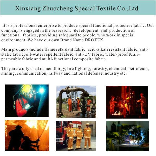 NFPA 2112 cotton flame resistant indigo blue denim fabric