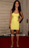 Вечернее платье Yellow Mini Sexy Bandage Evening Prom Cocktail Party Dresses Gown