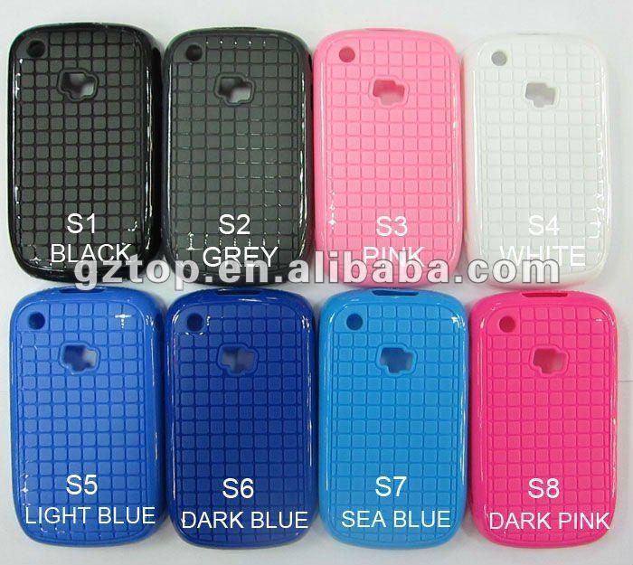 Transparent color case for blackberry 8520