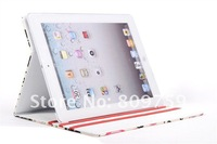 MOQ:1pcs,Surface Dandelion pattern Leather Case For ipad 2 3,HK Post Free Shipping ,C0030