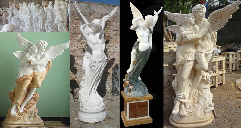 Jardin marbre ange statue sculpture pas cher statues id de - Statue design pas cher ...