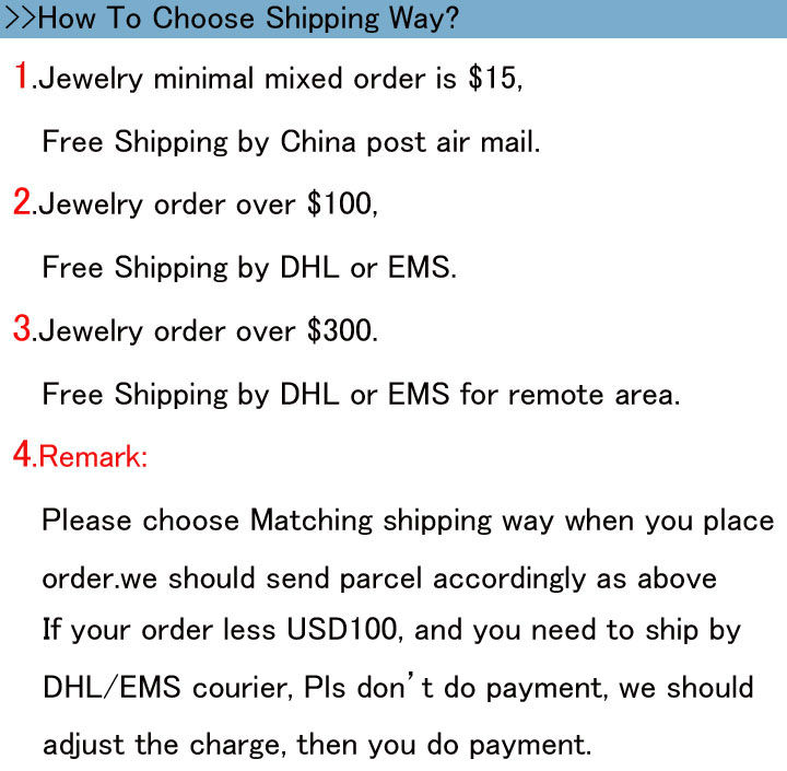 Choose shipping way