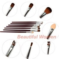 Кисти для макияжа Professional 12 PCS Makeup Cosmetic Brushes Set KIT With Case Pouch 6255