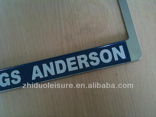 USA car Zinc alloy license plate frame