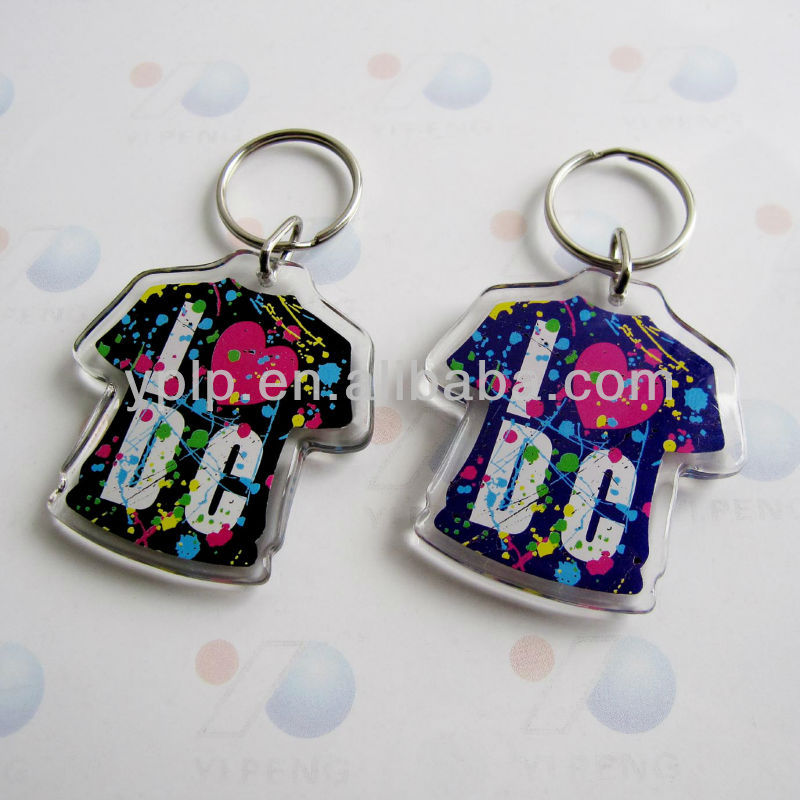 Promotional custom clear acrylic keychain key chain wholesale