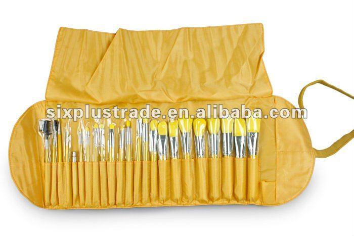 Wholesale cosmetic brush make up brush/cosmetic eyebrow brush set