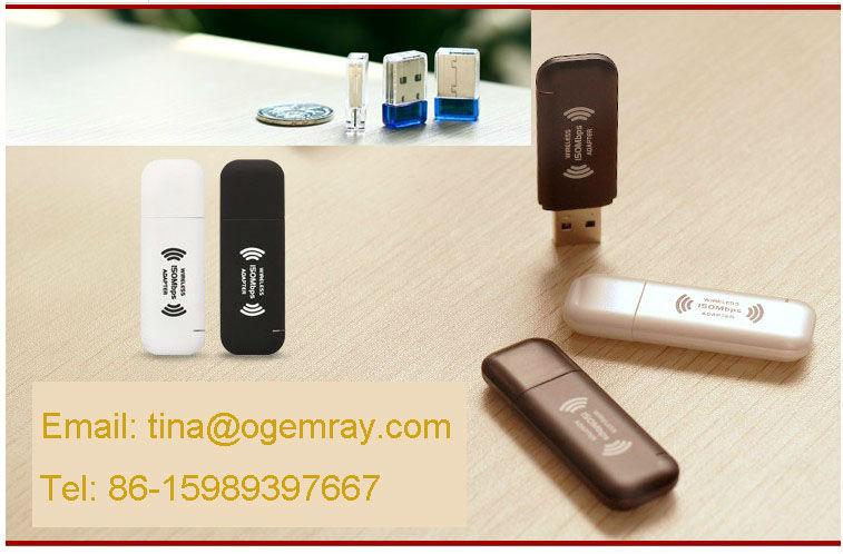 WIFI 150MBPS WIRELESS ADAPTOR 802.11 B G N LAN NETWORK MINI USB DONGLE ADAPTER
