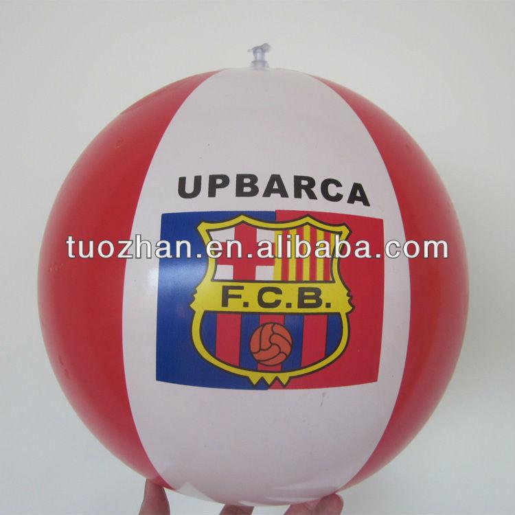 2014 new PVC/TPU custom fanta logo promotional beach ball EN71 CE standard cocacola aduited supplier