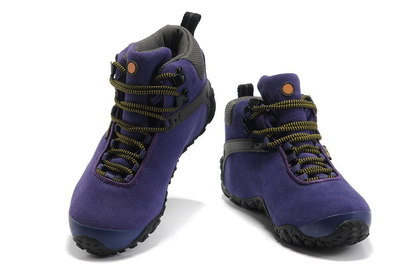 2014 New Genuine Leather Women Hiking Shoes Plush Lining Winter