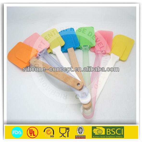 FDA kitchen cooking silicone spatula set
