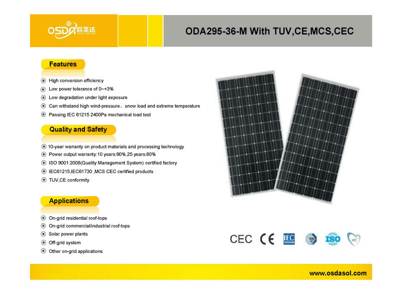 295w lowest price solar panel popular in india