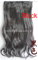 Волосы для наращивания 5 Clips Onepiece curl/curly/wavy Hair Extensions Synthetic Hairpiece 5 colors available