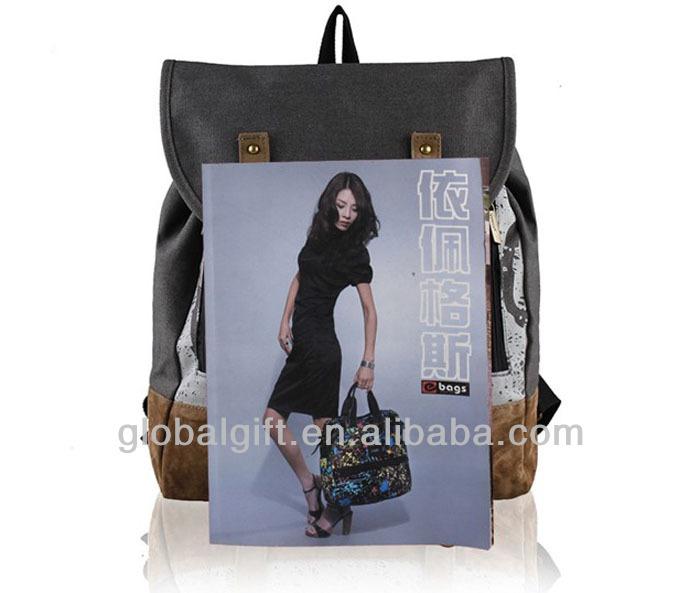 2014 Retro Canvas School Backpack Bag