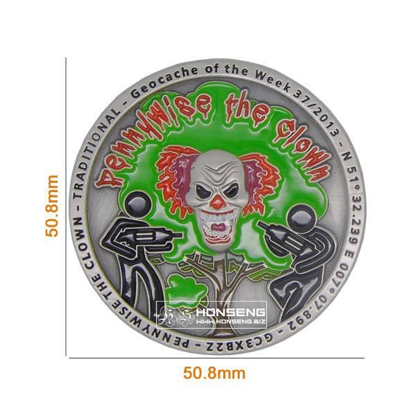 Paladium Geo Coins size