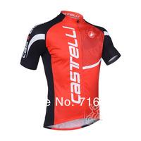 Новый красный Кастелли команда велосипедов Джерси и нагрудник шорты kit, короткий рукав, Велоспорт одежда Одежда/велосипед Джерси/велосипедов