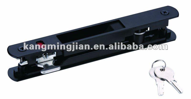 Aluminio cerradura de la puerta deslizante con negro m s for Cerraduras para puertas de aluminio