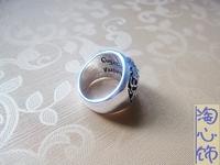 Кольцо 925 sterling silver punk jewelry