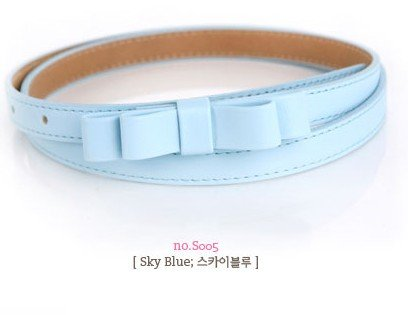 Free Shipping,Min.order is $15 (mix order)Whlesale Sweet princess belt with double bow, candy color,mix 12 color,9416