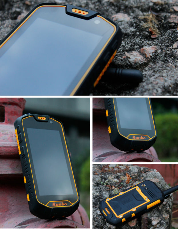 Runbo Rugged mobile phone waterproof 3g walkie talkie 4.5inch touch screen cell phone made in China