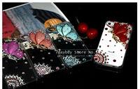 роскошный ручной работы цветок Ангела 3d дизайн горный хрусталь смартфон блеск крышку случае для iphone5 iphone 5s