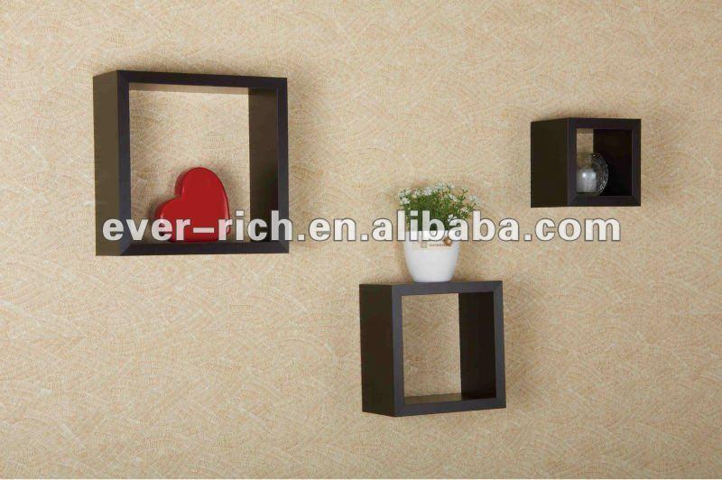 Mur mont mdf d coratif en bois tag re murale ensemble de 3 autres meubles e - Mur decoratif en mdf ...