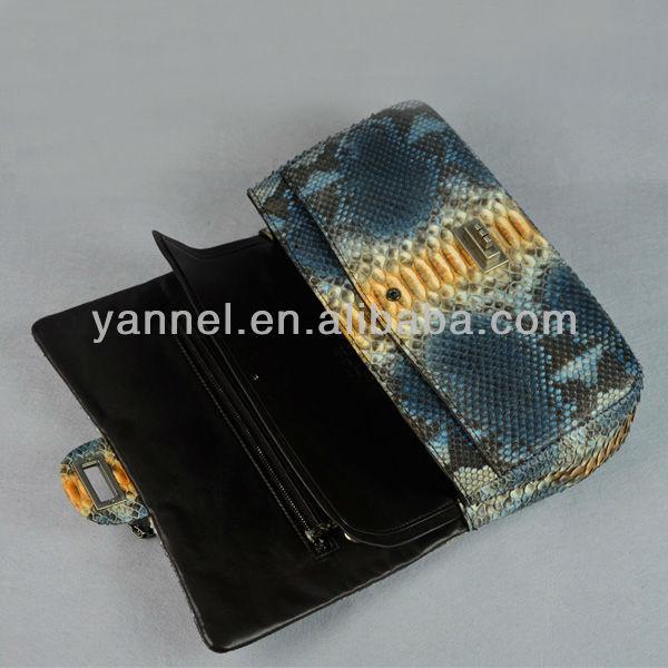 Python lady chain shoulder bag_python handbags_python snake purse