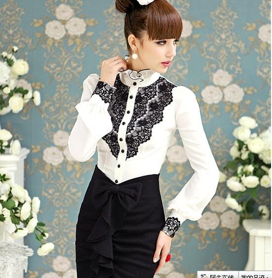 Черно Белые Блузки Фото