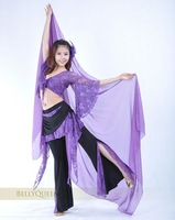 superior belly dance lace top + trousers with lace set /belly dance costume/belly dance wear wholesales,free shipping