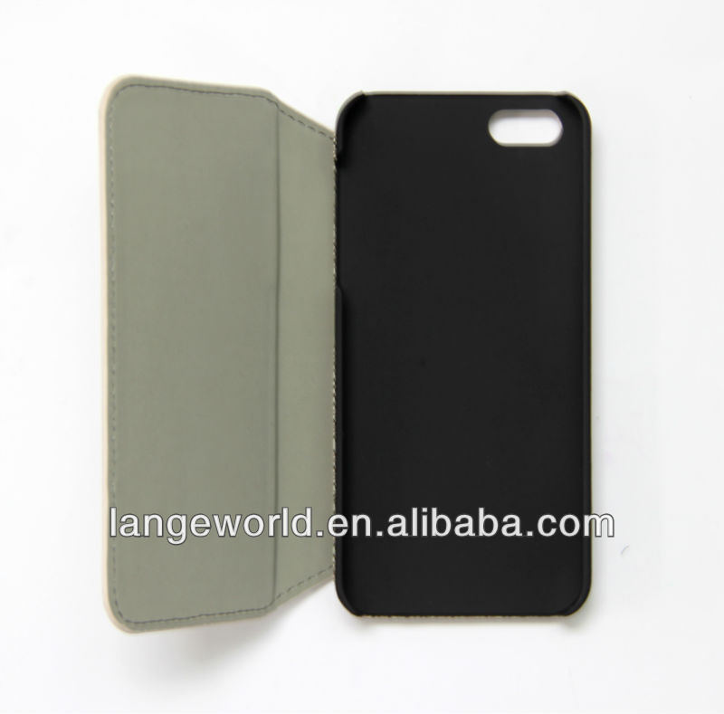 Lovely Woman Style leather case for iPhone 5 case
