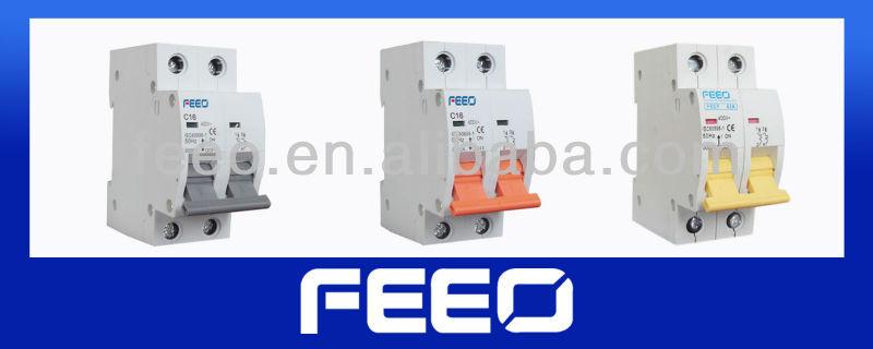 2 poles MCB circuit breaker control switch