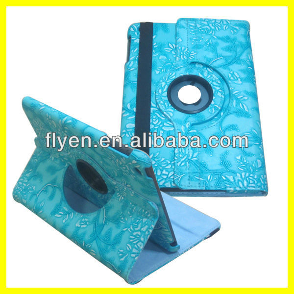 Manufacturer Wholesale Stand Magnetic Rotating 360 Degree Case for iPad mini Case Leather Smart Cover 2013 Hot Selling