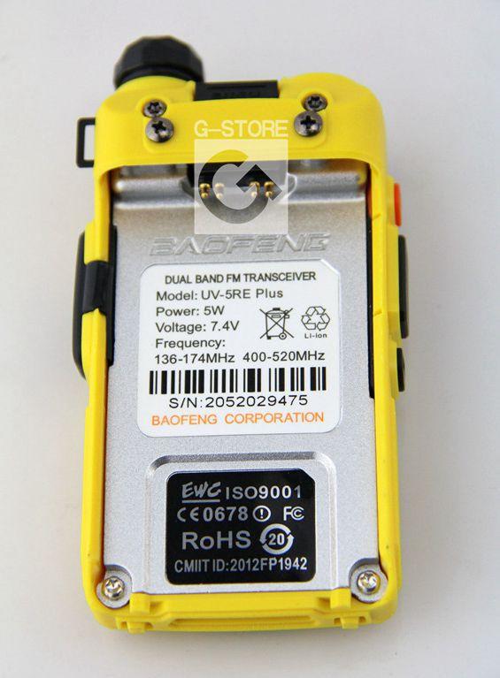 BAOFENG UV-5RE+Plus Yellow Colour Walkie Talkie VHF/UHF 136-174/400