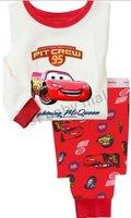 Free Shipping! 6sets baby boys' sleepwear cars pajamas Mcqueen homewear cartoon pajamas set cotton underwear long sleeve Tees