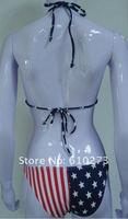 Crazy sale USA flag bikini,sexy flag bikini, American bikini,100pcs/lot+Free shipping