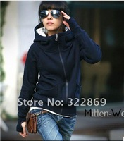 Женские толстовки и Кофты women's fashion coat women's jean jacket denim outwear Size-S/M/L