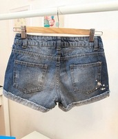 Женские шорты Cheap Fashion New Arrive Korean Style Hole Spot Painting Casual Style Jeans Shorts