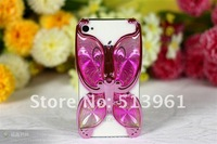 Electroplating Vivid Butterfly Hard Back Case For Iphone 4S 4G 4, Free Shipping
