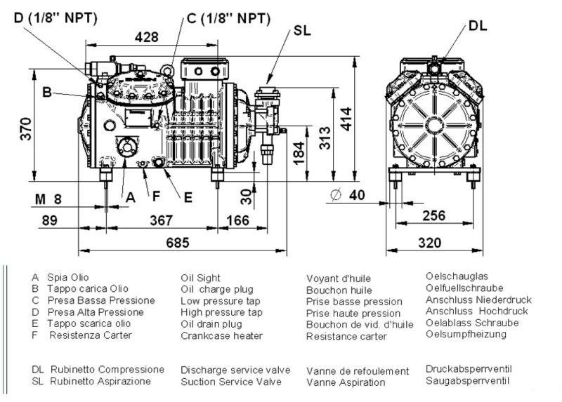 DORIN piston compressor