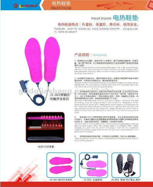 Rechargeable li - batterie chauffage électrique semelles chaudes et chaussures semelles intérieures