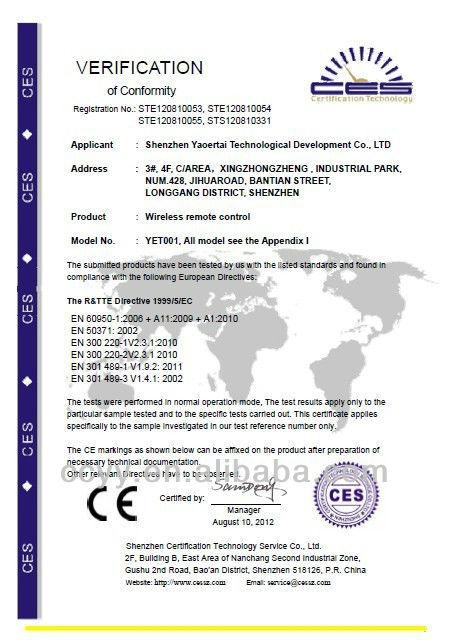 433.92MHz Gate Duplicator Remote Control CY163
