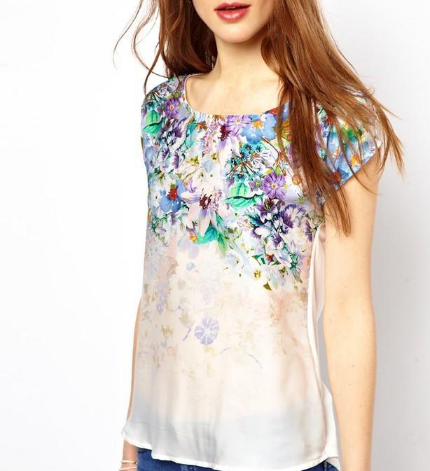 Блузки Из Хлопка С Цветочным Принтом 2013 Фото