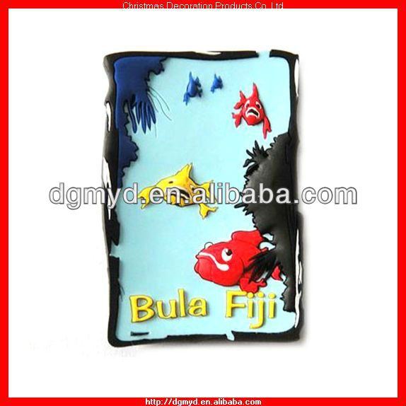 Fiji souvenir custom 3d soft pvc fridge magnet China supplier (MYD-FM6666)