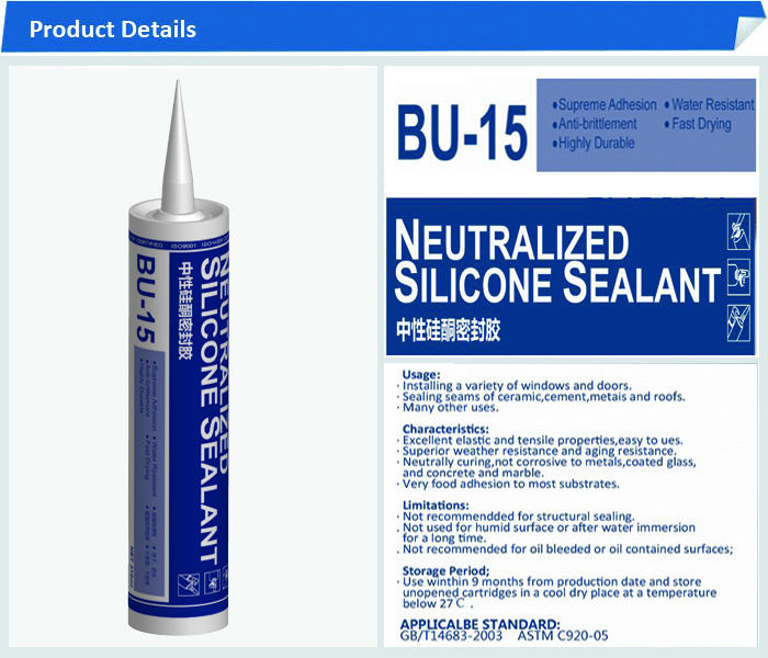Neutralized Multi-purpose Silicone Sealant