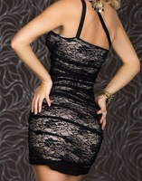Женское платье 1pac/lot New sexy hot women two colors lace women Clubwear dress+G-string size XS-M w887